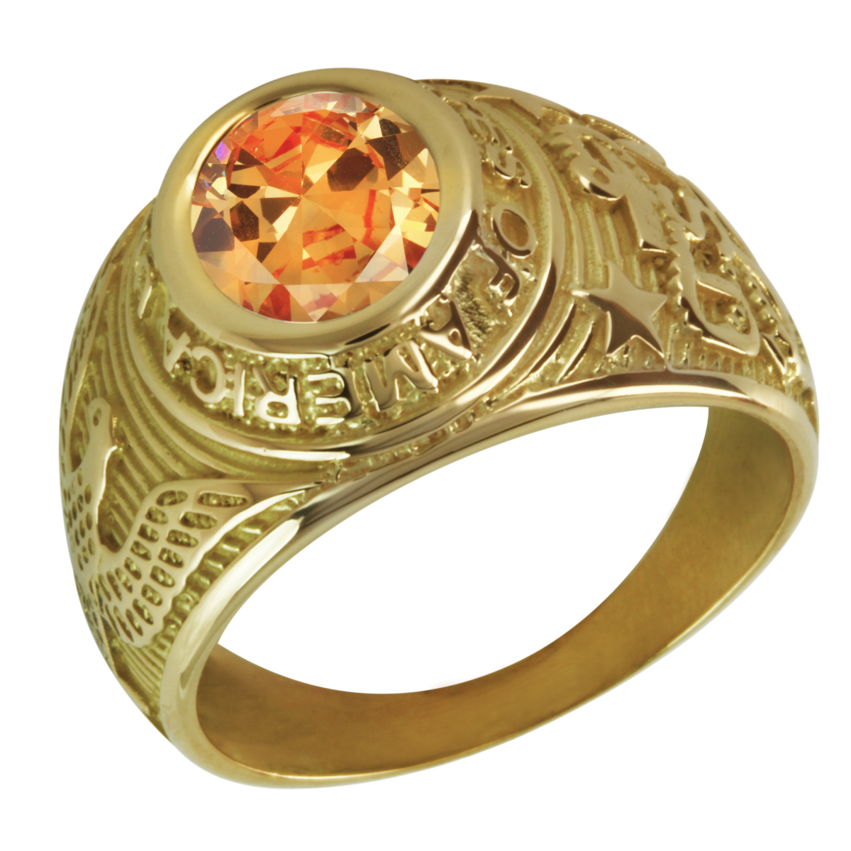 Bague pierre orange
