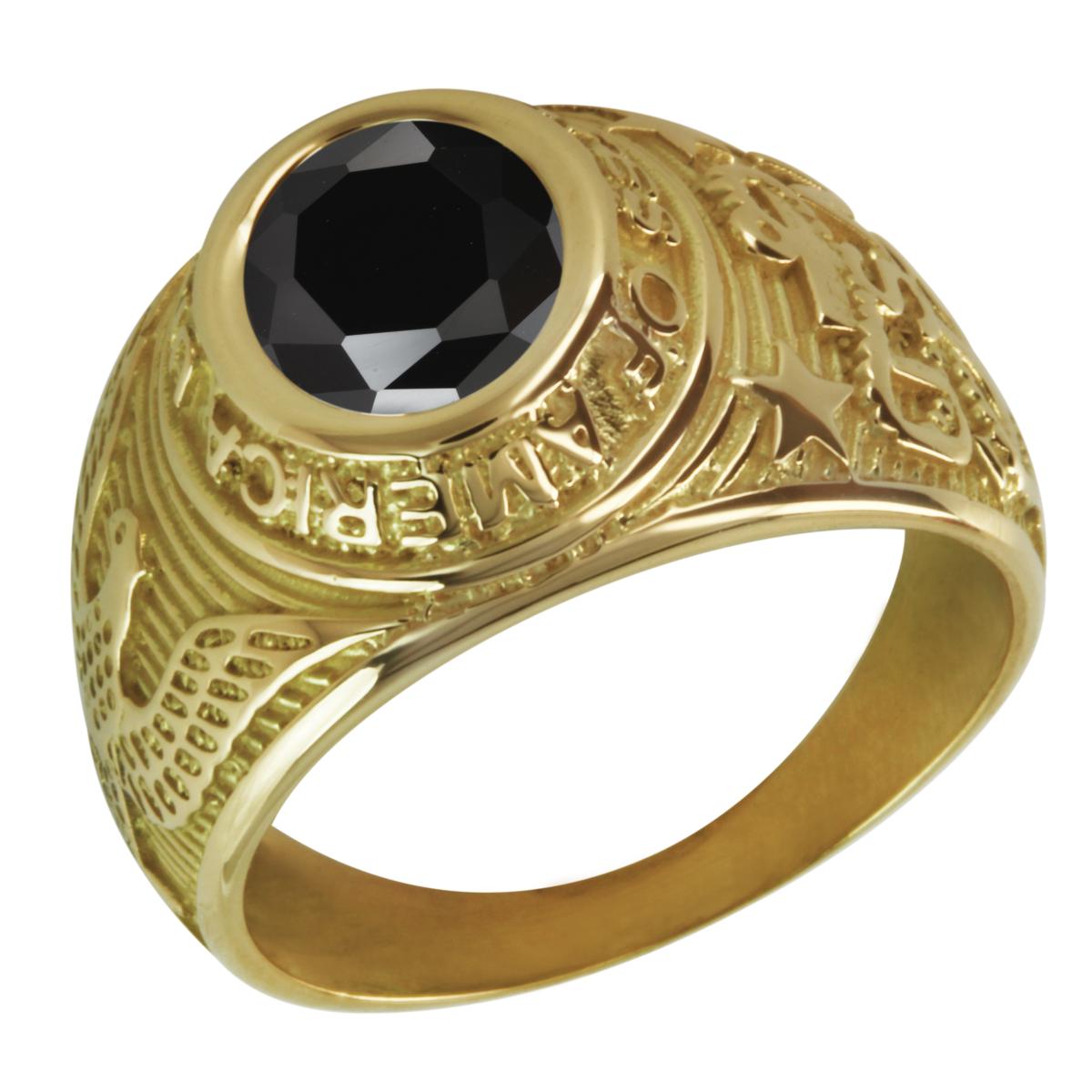 Attractif Bague chevalière or homme universitaire pierre noire IX16 c946007fe0db